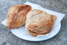 Pastizzi , typical street food Maltese with ricotta and peas