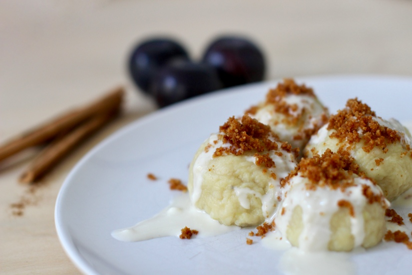 Polish plums potatodumplings
